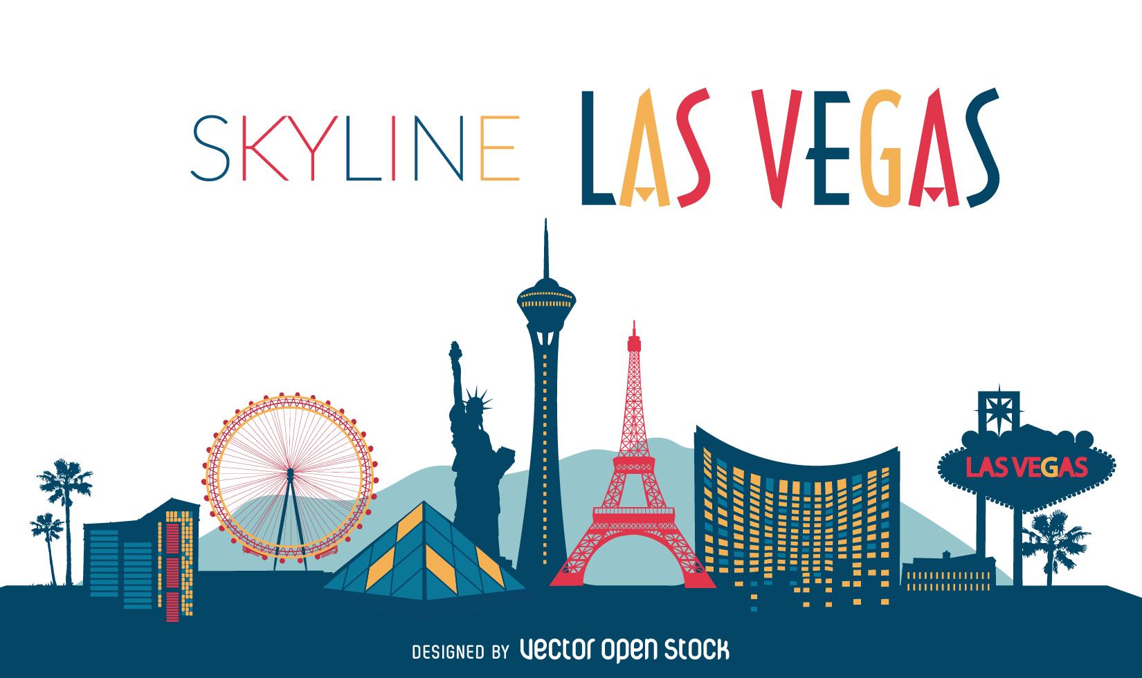 Las Vegas Skyline Vector PNG