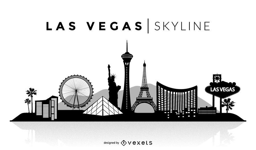 Las Vegas Skyline Vector PNG - 69090