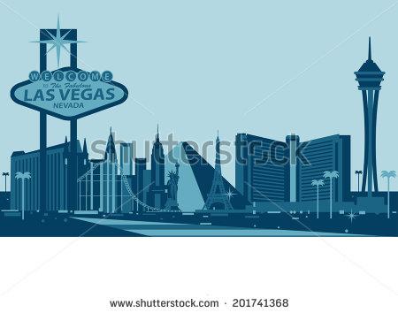 Las Vegas Skyline Vector PNG - 69091