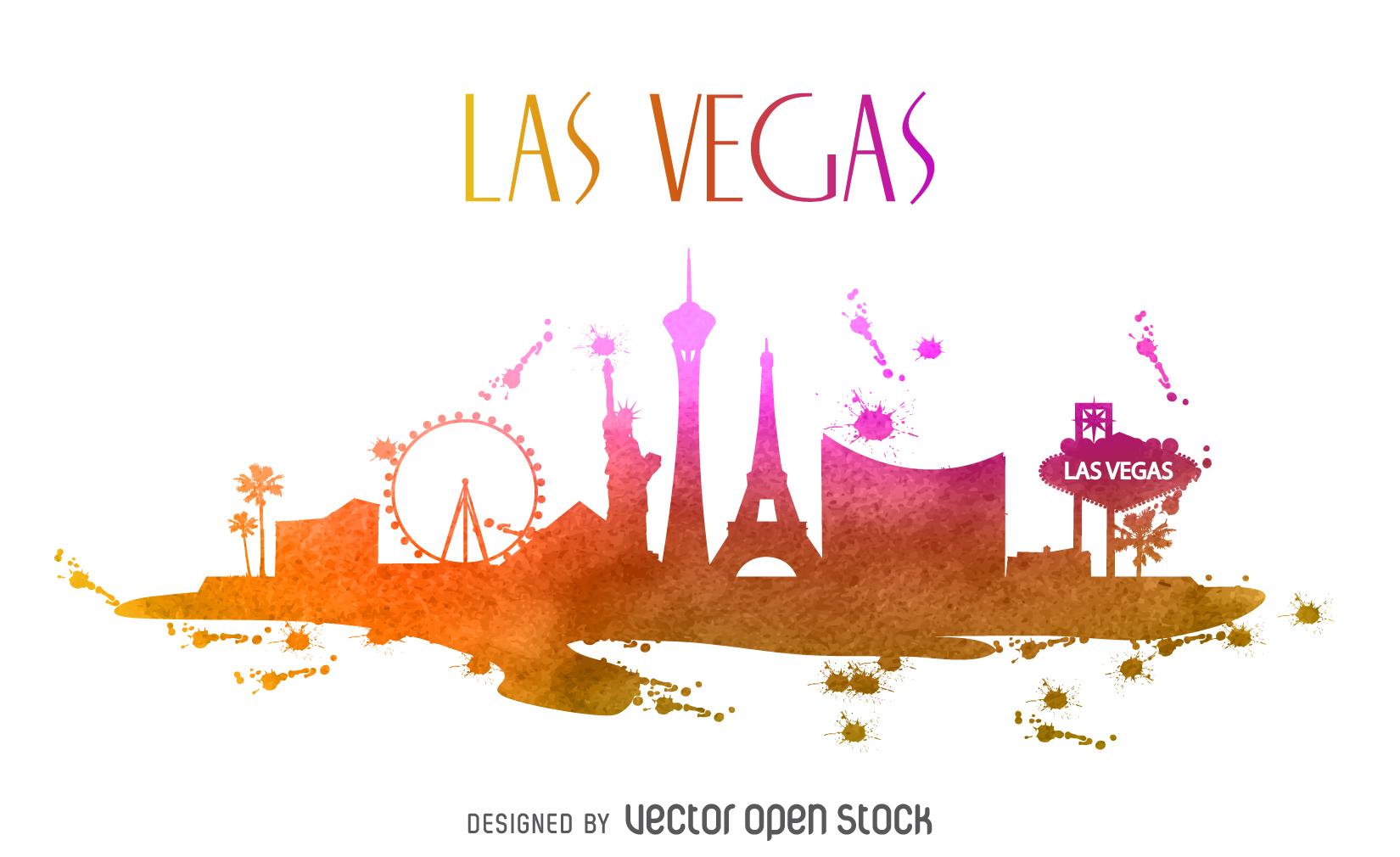 Las Vegas Skyline Vector PNG - 69086