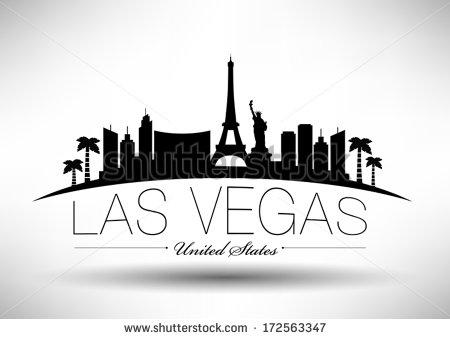 Las Vegas Skyline Vector PNG - 69083
