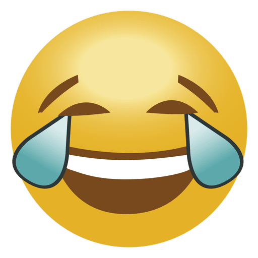 Laugh crying emoji emoticon Transparent PNG - Laugh And Cry PNG