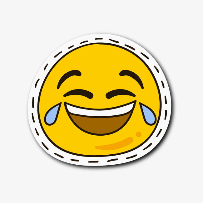 Yellow round smile cry expression, Yellow, Circular, Laugh And Cry Free PNG  and Vector - Laugh And Cry PNG
