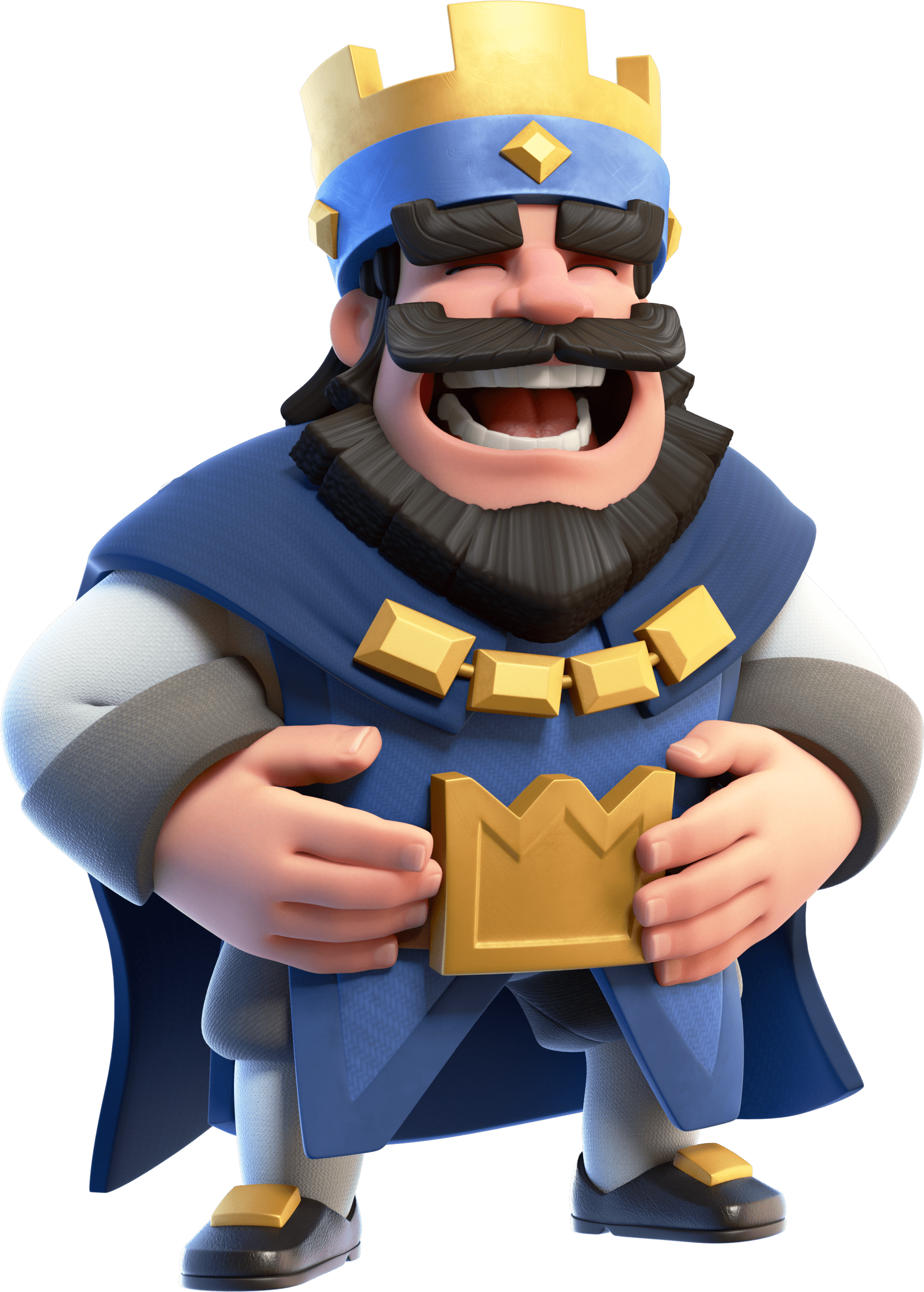 Clash Royale Laughing King - Laughing PNG HD