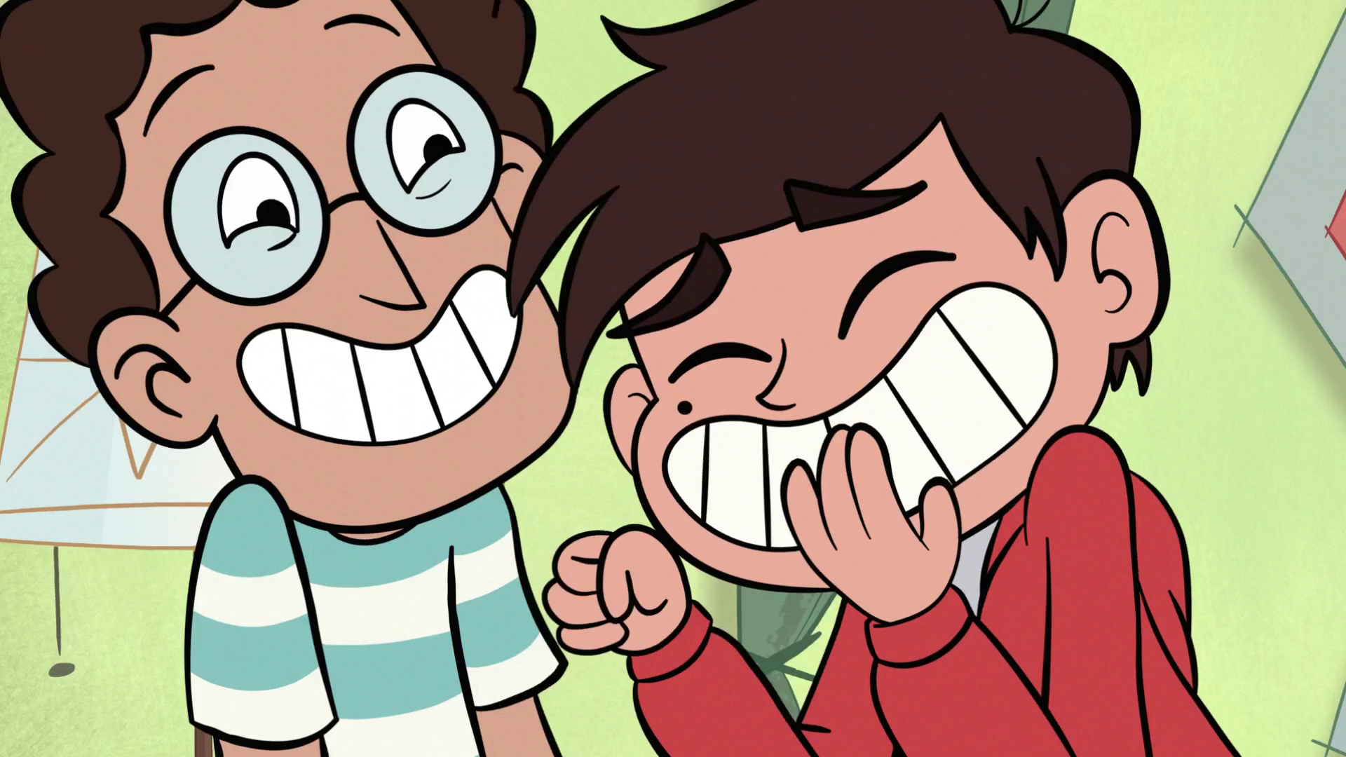 S1E12 Marco and Alfonzo laughing.png - Laughing PNG HD