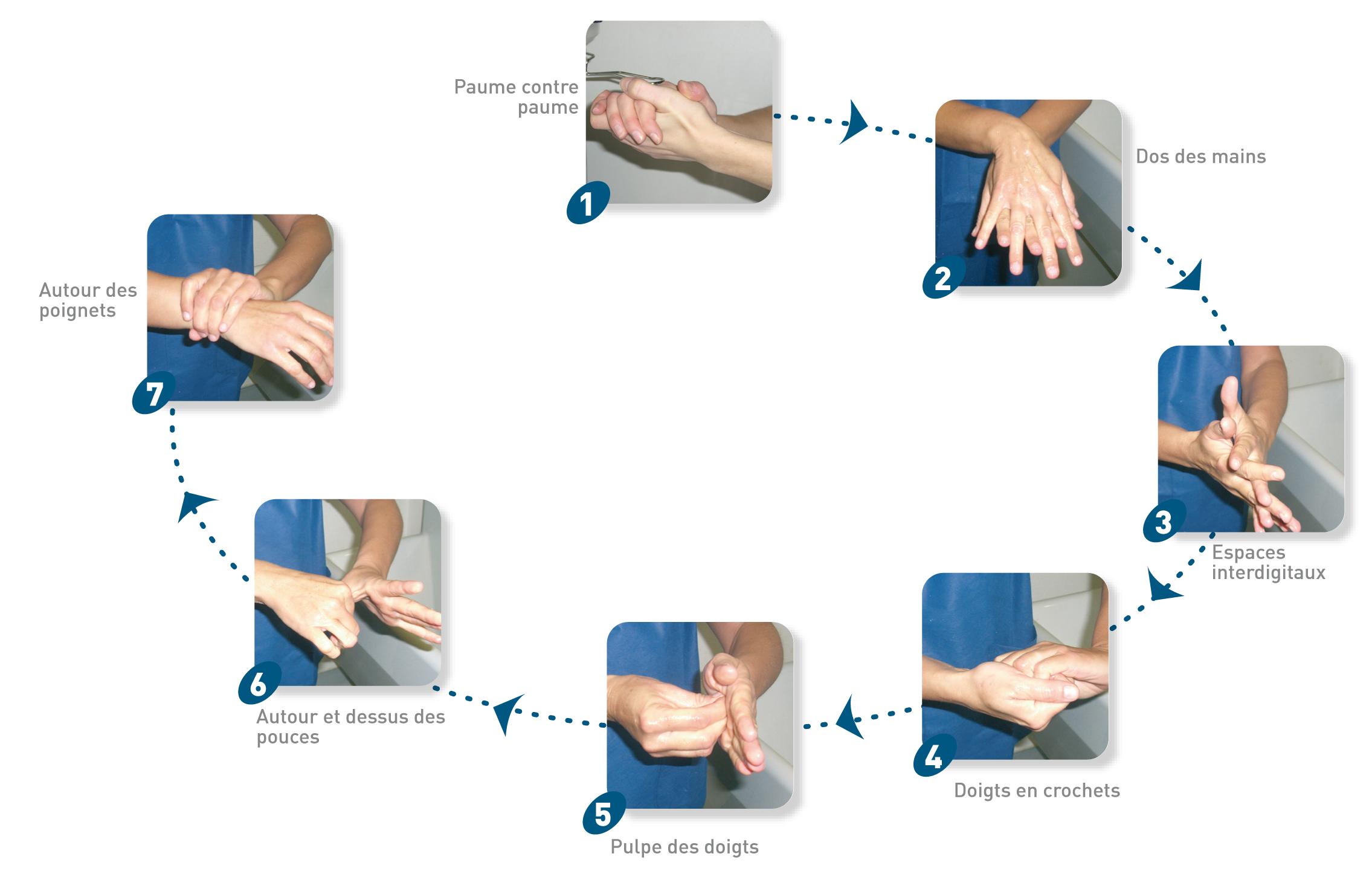 Etapes lavage des mains - Lavage Des Mains PNG