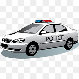 Vector police car abroad, Police Car, Foreign, Vector PNG and Vector
