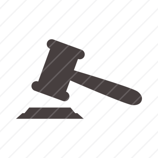 judge hammer, justice, hammer, law hammer, judge, court, judicatur icon - Law Hammer PNG