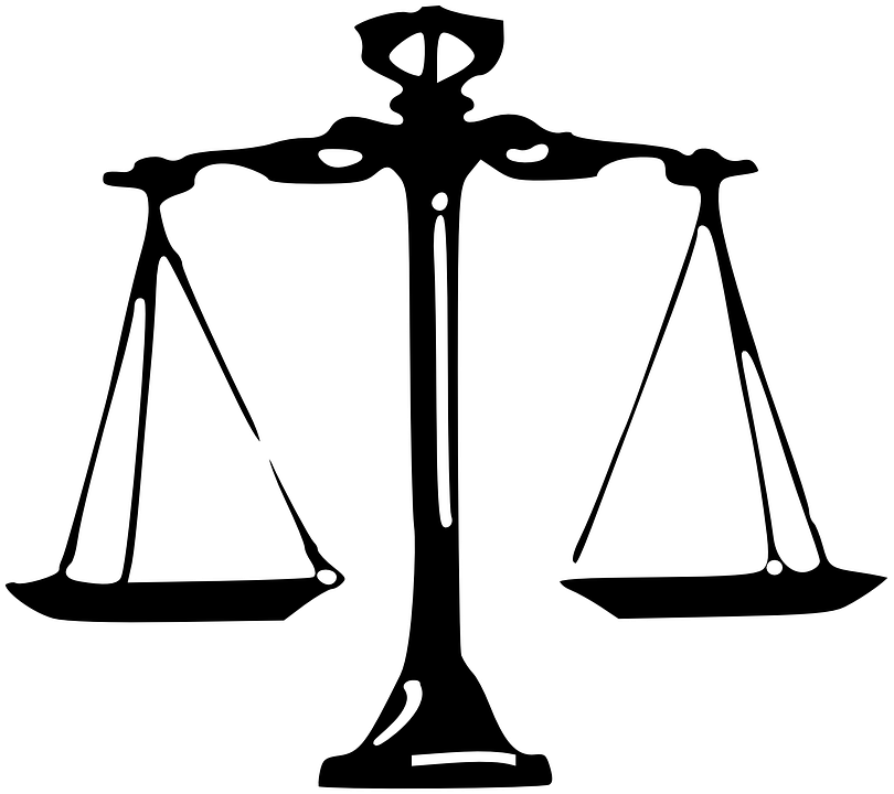 Scales, Justice, Law, Equal, Fair - Law Scale PNG
