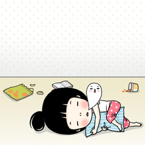 CUKI Theme Lazy girl Wallpaper for Lollipop - Android 5.0 - Lazy Girl PNG
