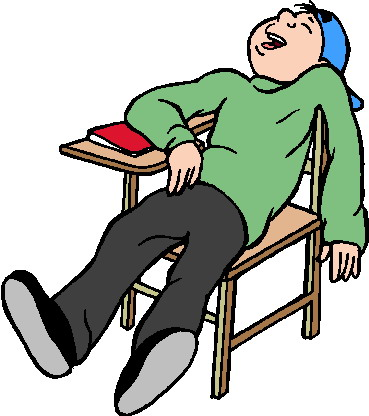 Lazy Clipart - Lazy Kid PNG