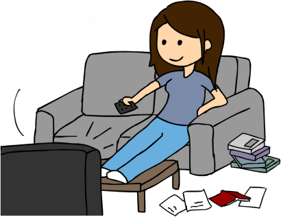 Lazy Girl Coworker Clipart - Lazy Kid PNG