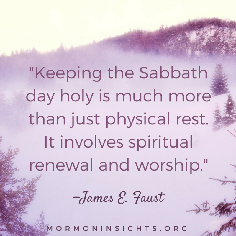 Keep the #Sabbath day holy. #ShareGoodness #LDS u2014mormoninsights pluspng.com - Lds PNG Sabbath Day