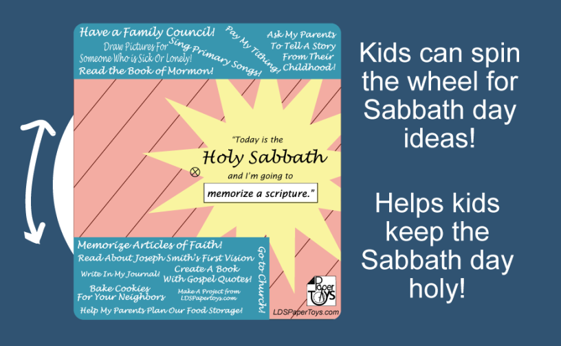 Sabbath Day Spinner - Lds PNG Sabbath Day