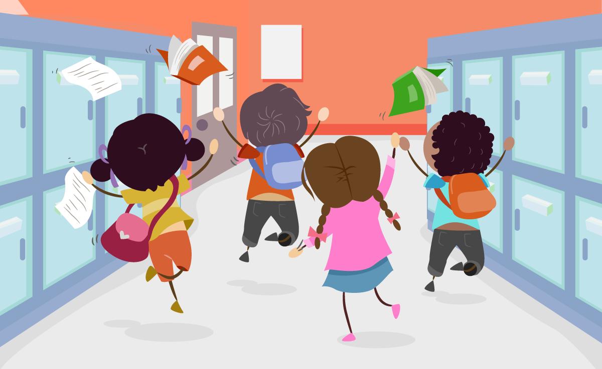 Kids leaving school for summer - Leaving To School PNG