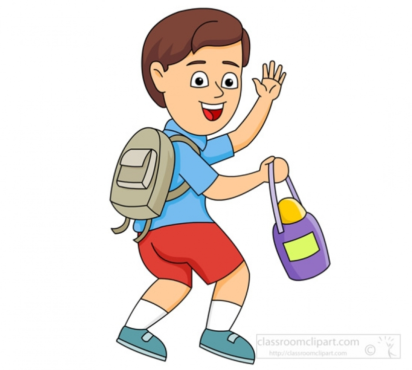 school boy leaving for school waving good e classroom clipartBest PNG  goodbye clip art clipart free download - Leaving To School PNG
