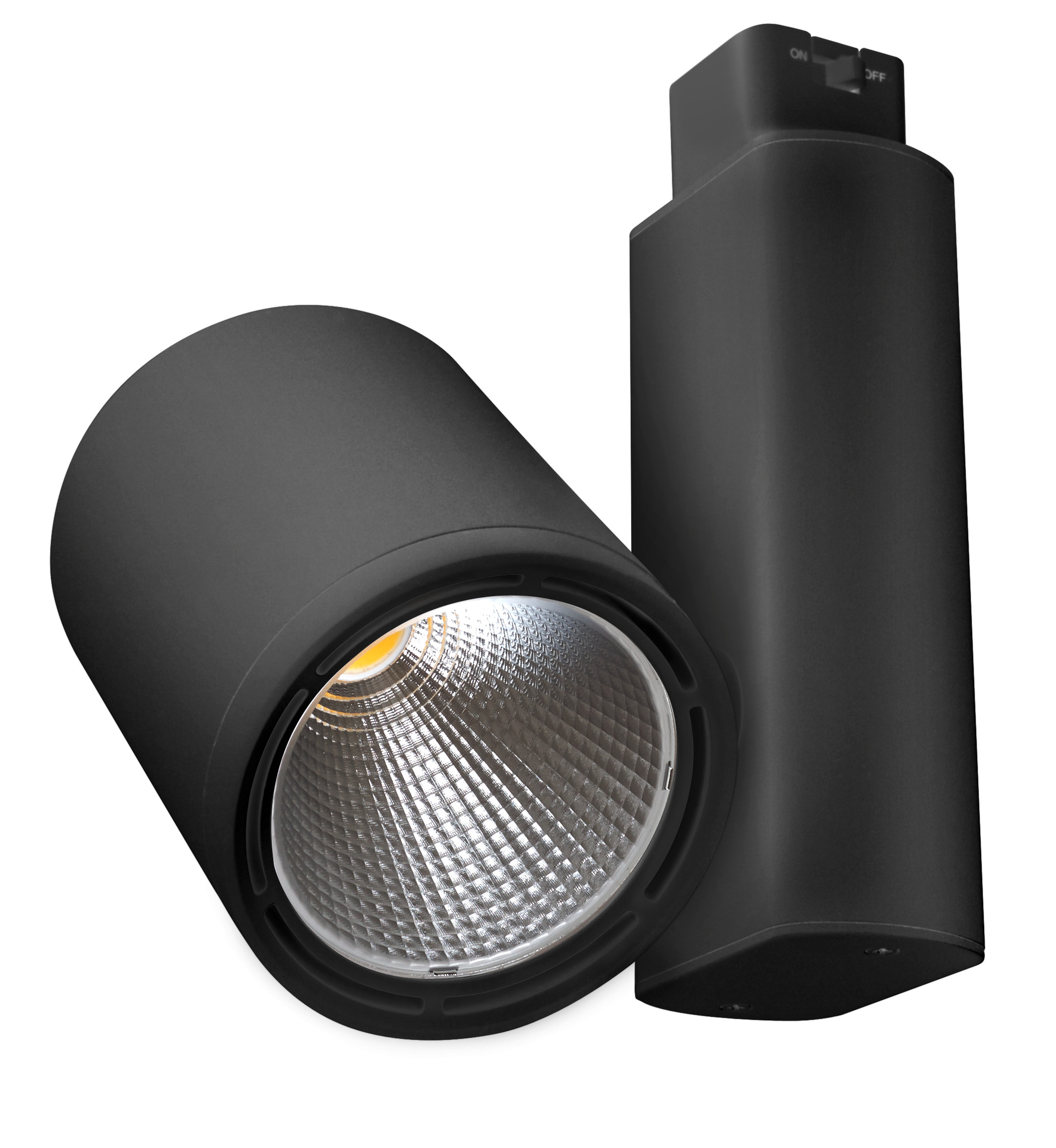 Replaces 250W PAR38 | 2500 Lumens LED Track Light Head E-KXD Series | 3000K  | Black - Led PNG Black And White
