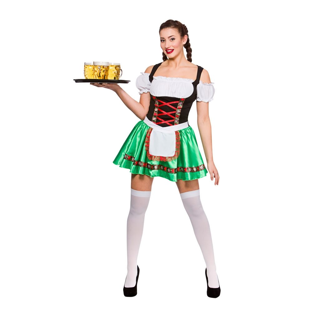 Ladies Oktoberfest Costume Beer Maid Wench German Lederhosen Dirdnl Fancy Dress