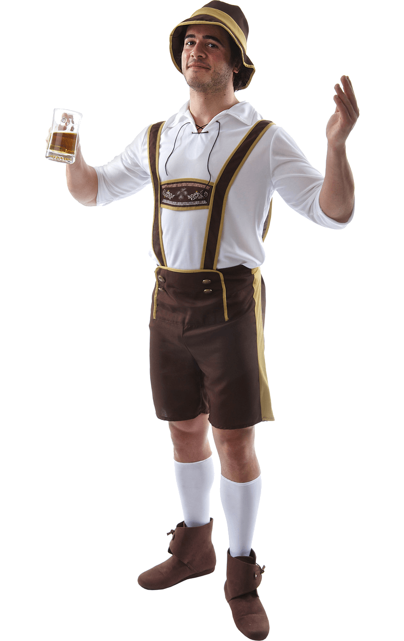 Bavarian Oktoberfest Fancy Dress Costume - Lederhosen Oktoberfest PNG