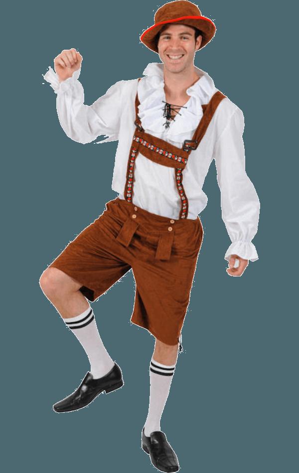 Lederhosen Oktoberfest Costume - Lederhosen Oktoberfest PNG
