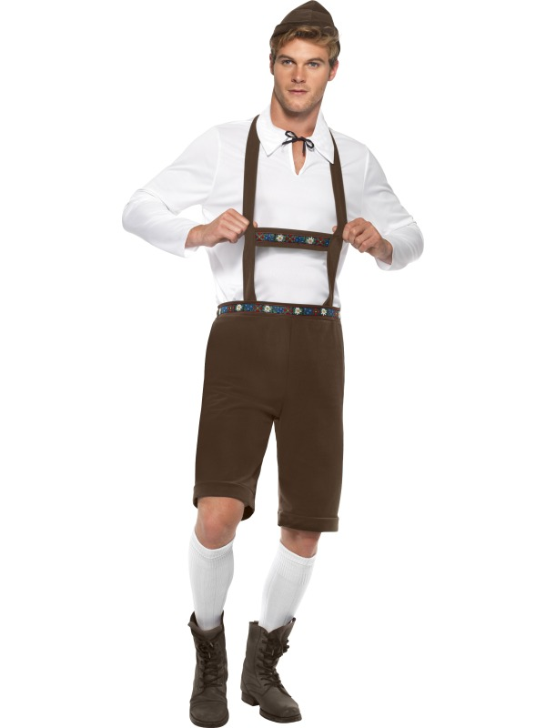 Sentinel Bavarian Man or Wench Oktoberfest Fancy Dress Lederhosen German  Beer Costume New - Lederhosen Oktoberfest PNG