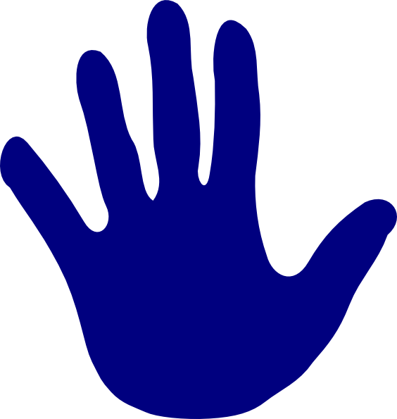 Hand Blue Left Clip Art at Clker pluspng.com - vector clip art online, royalty free  u0026 public domain - Left And Right Hand PNG
