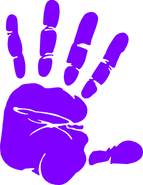 pin Handprint clipart right hand #1 - Left Handprint PNG