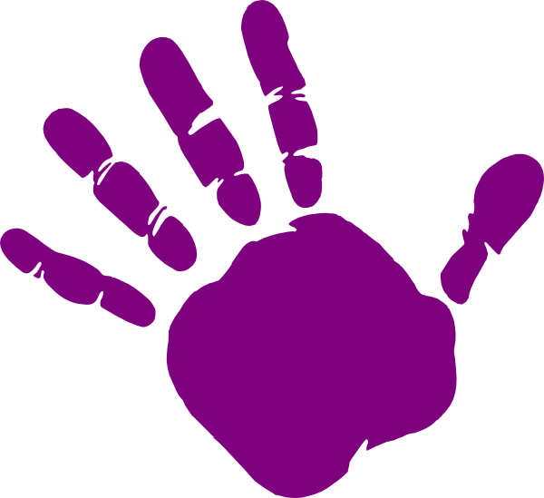 PNG: small · medium · large - Left Handprint PNG