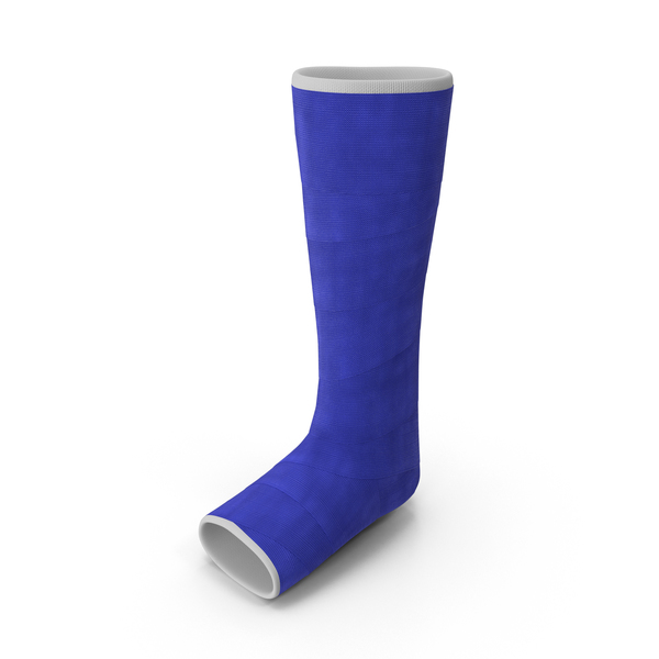 Blue Fiberglass Leg Cast - Leg Cast PNG