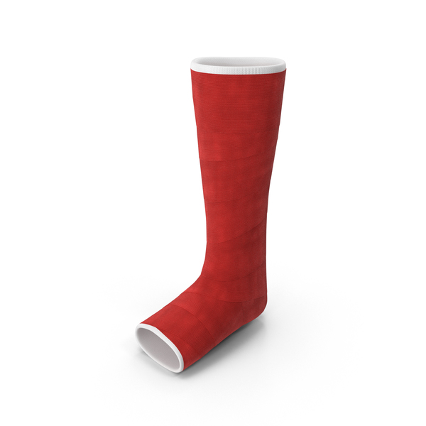 Orthopedic Leg Cast Object - Leg Cast PNG