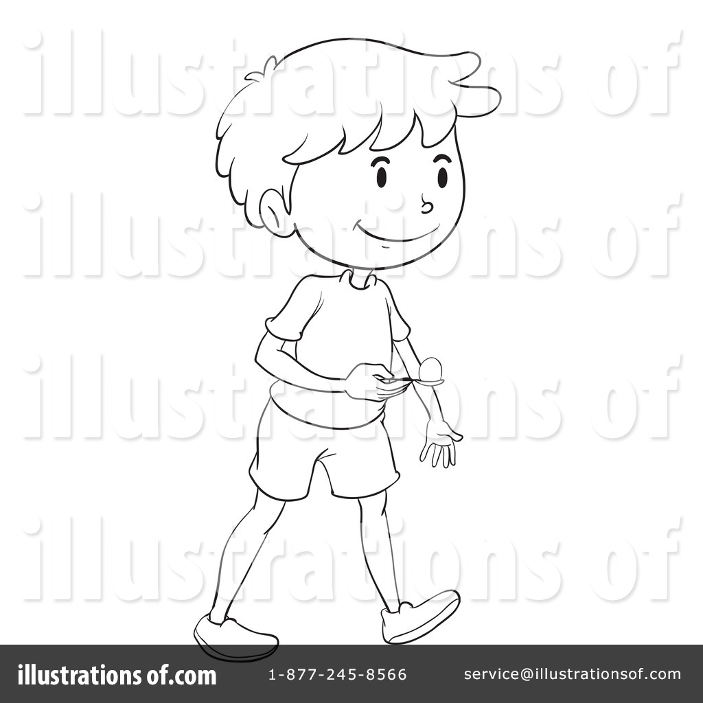 Royalty-Free (RF) Egg And Spoon Race Clipart Illustration #1135646 by  Graphics RF - Lemon And Spoon Race PNG