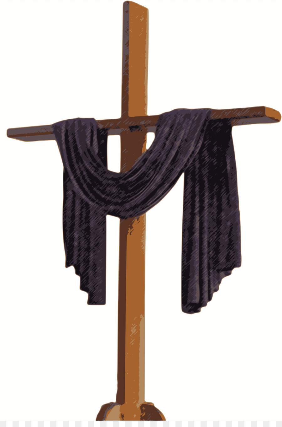 Christian cross Lent Stations of the Cross Clip art - Cross Cloth Cliparts - Lent PNG HD Free