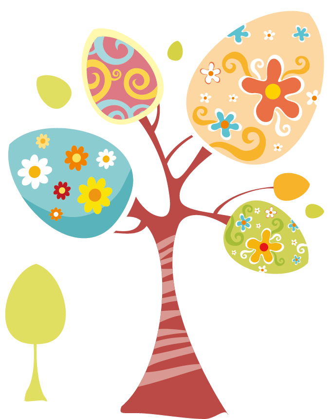 Holy Week Happiness Easter Lent Ash Wednesday - Cartoon tree material  682*859 transprent Png Free Download - Petal, Flower, Area. - Lent PNG HD Free