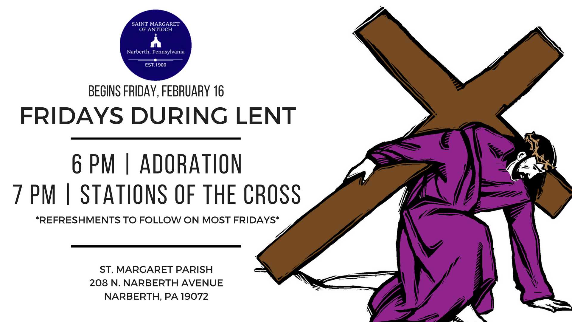 Lenten Fridays 2018 Facebook Event - Lenten PNG HD