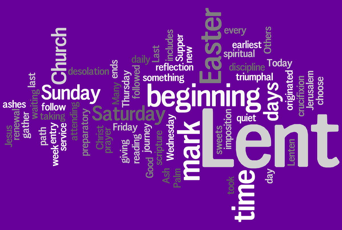 Lenten Resources: Post-Primary - Lenten PNG HD