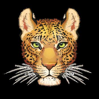 Eliket 15 0 Leopard Face by Eliket - Leopard Face PNG