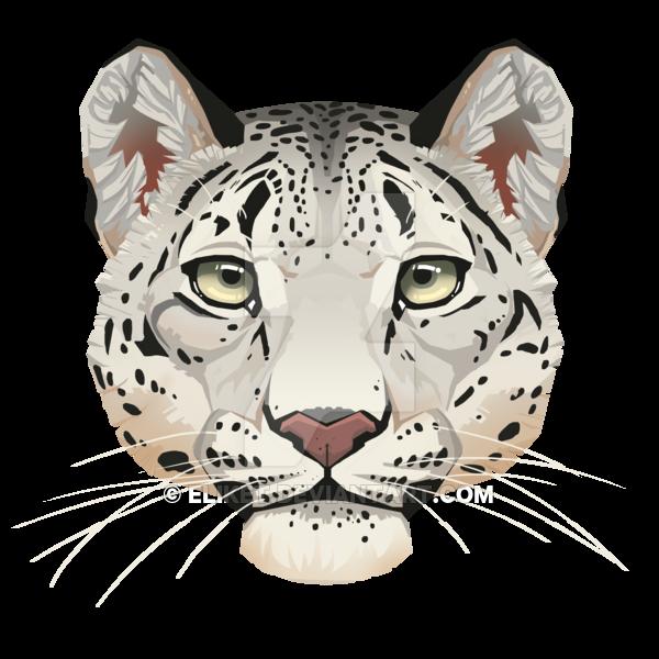 Snow Leopard Face by Eliket PlusPng.com  - Leopard Face PNG