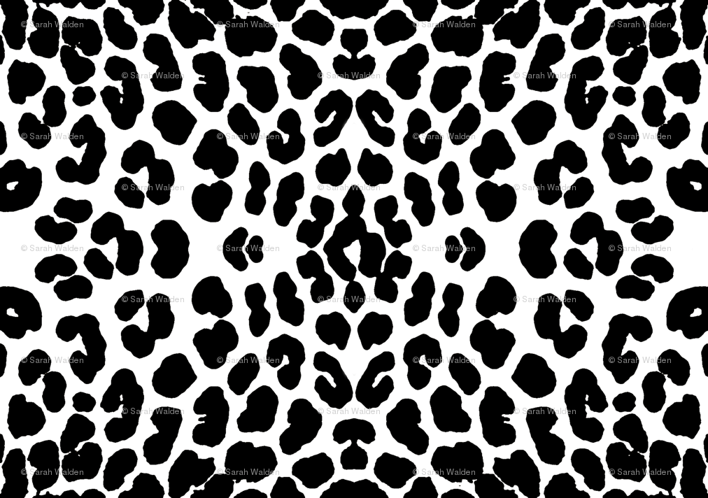 Leopard PNG Black And White - 45796