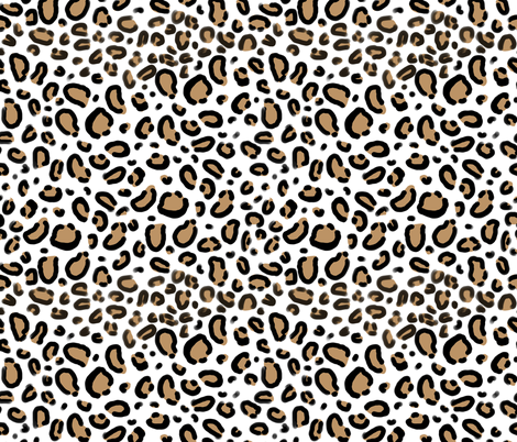 leopard - animal print with white background natural tan cheetah spots  fabric by charlottewinter on Spoonflower - Leopard Print PNG
