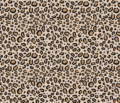 leopard print - tan natural animal cheetah safari print fabric by  charlottewinter on Spoonflower - custom - Leopard Print PNG