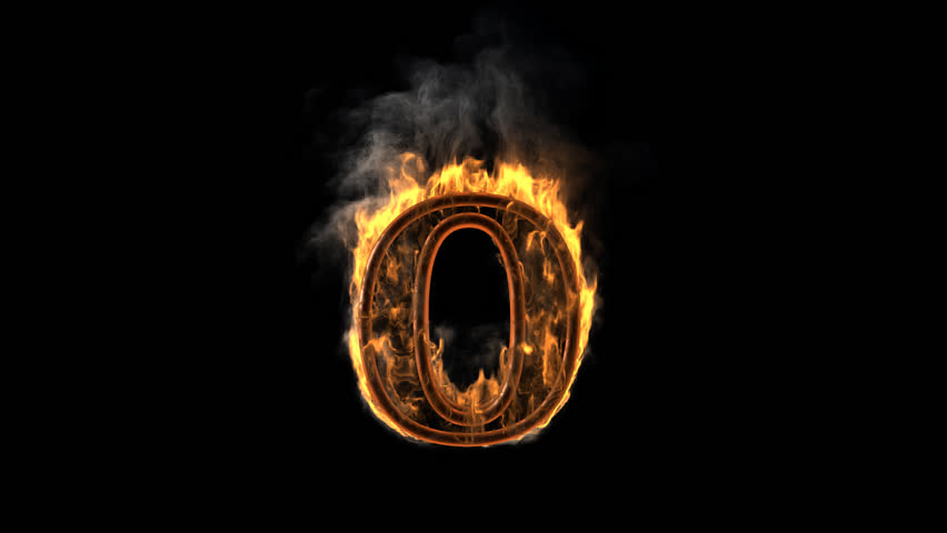 burning figure rendered in PNG with alpha channel - HD stock video clip - Letter D HD PNG