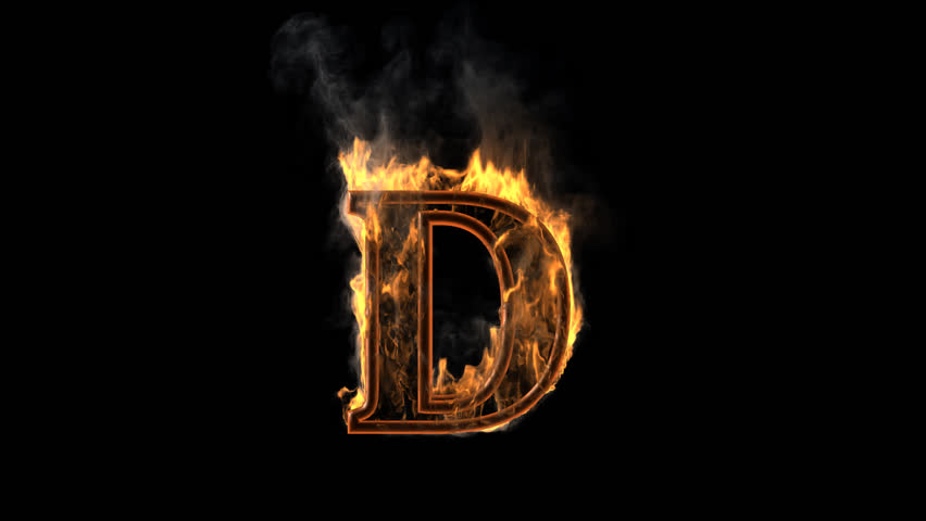 Burning Figure Rendered In PNG With Alpha Channel Stock Footage Video  13588637 | Shutterstock - Letter D HD PNG