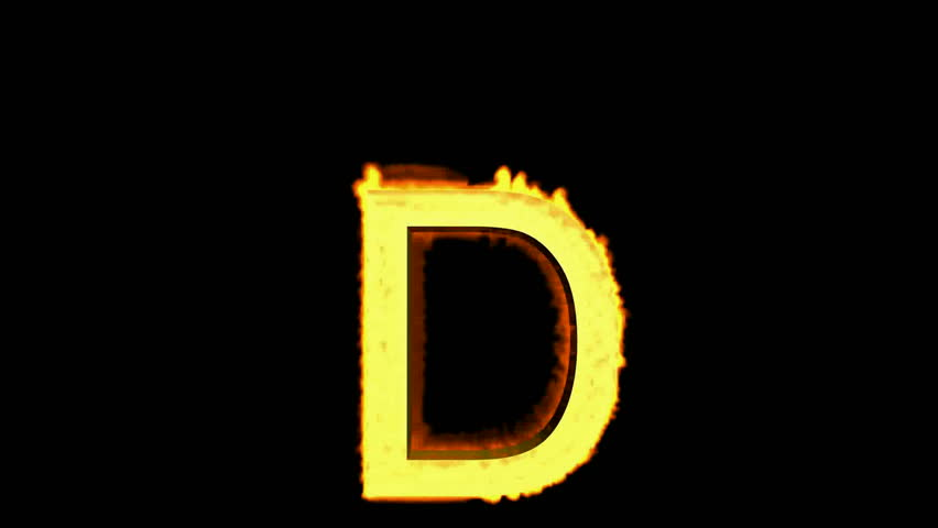 fire letter D,uppercase. - HD stock footage clip - Letter D HD PNG
