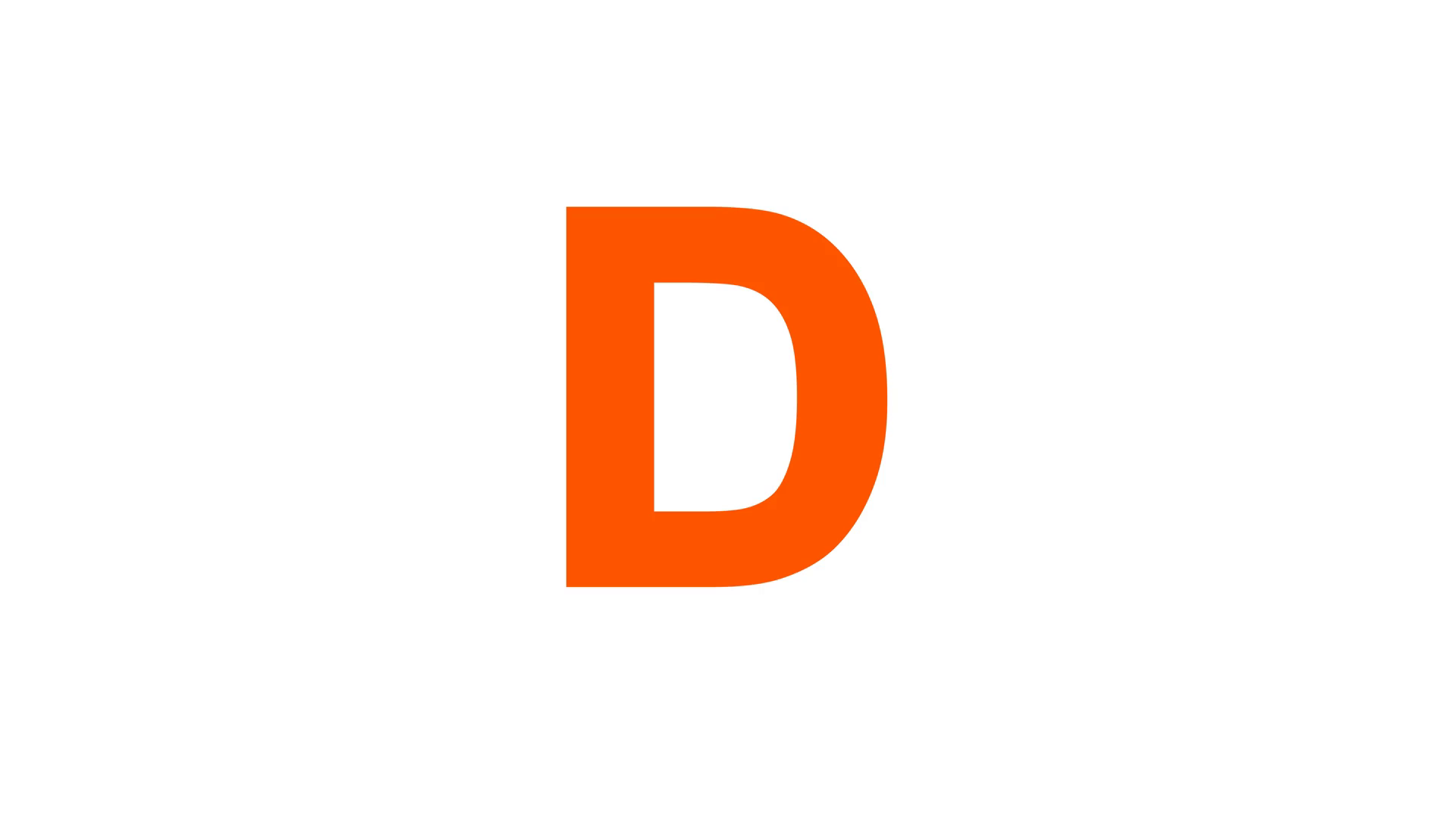 latin letter D from letters of different colors appears behind small  squares. Then disappears. Alpha channel Premultiplied - Matted with color  white Motion PlusPng.com  - Letter D HD PNG