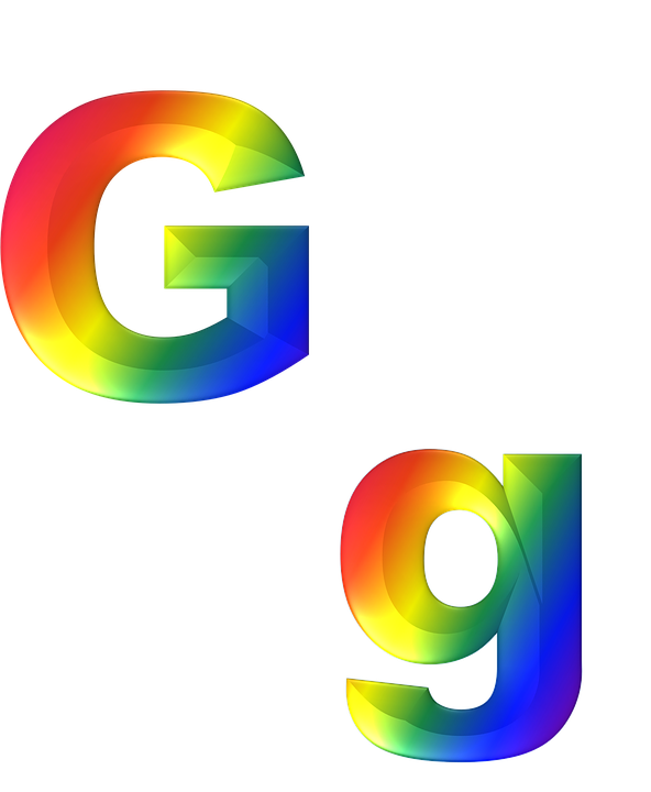Letter, G, 3D, Abc, Alphabet, Rainbow, Gradient, Bright - Letter G HD PNG