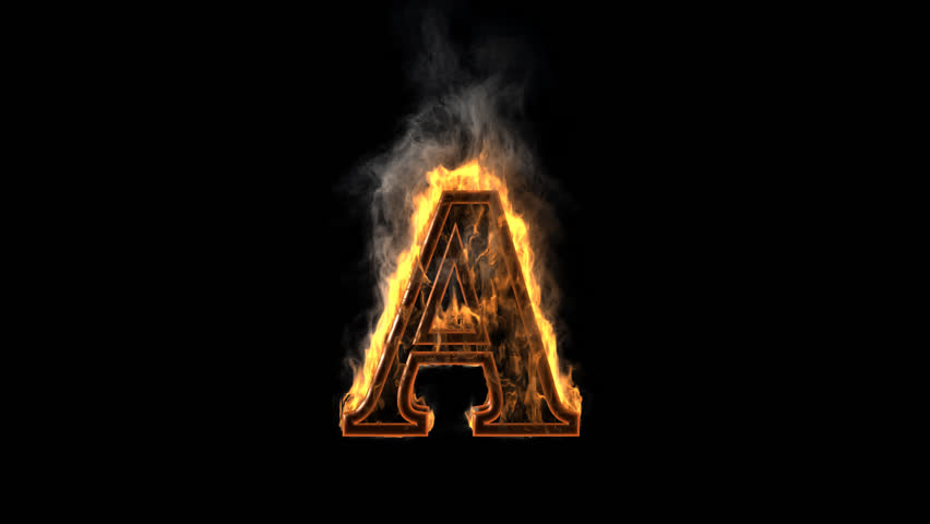 burning figure rendered in PNG with alpha channel - HD stock video clip - Letter I HD PNG