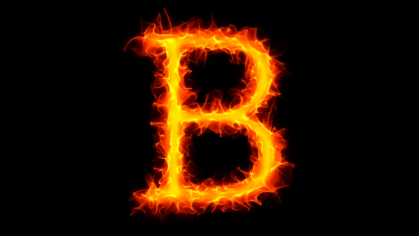 Letter B on fire - HD stock video clip - Letter I HD PNG