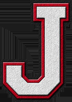 ETC U003e Presentations ETC Home U003e Alphabets U003e Varsity Letters U003e White U0026  Cardinal Red U003e Letter J - Letter J HD PNG