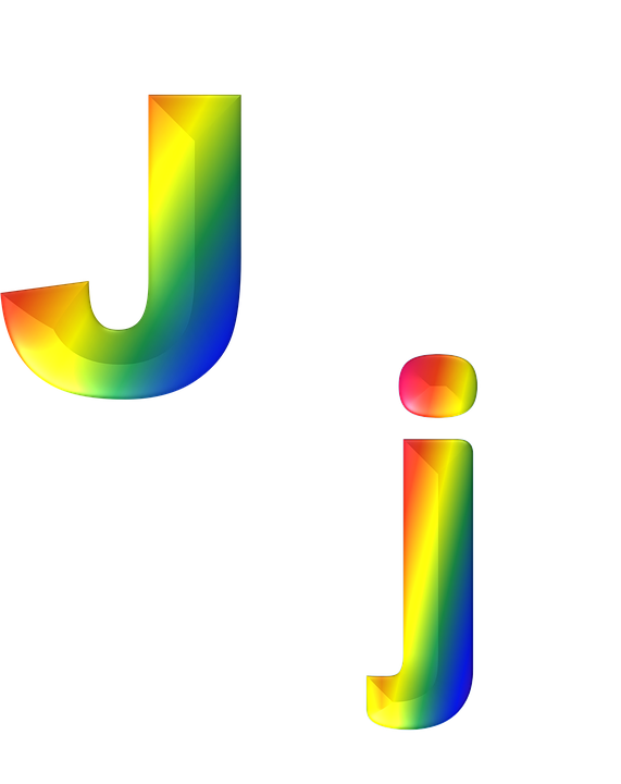 Letter, J, 3D, Abc, Alphabet, Rainbow, Gradient, Bright - Letter J HD PNG