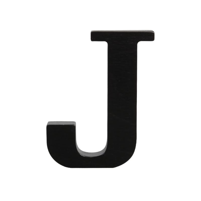 Wooden Letter J, Black - Letter J HD PNG